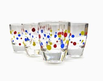 Polka Dot Shot Glass Set | piece 6 | Mid Century Design