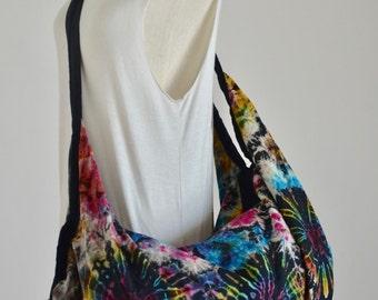 Mandala Tie Dye Bag Hippie Bag Hobo Bag Sling Bag Cotton Shoulder Bag Boho Bag Crossbody Bag Diaper Bag Purse Messenger Bag 05