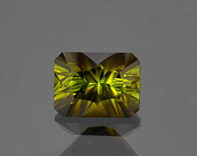 Lovely Concave Cut Green Tourmaline Gemstone from Tanzania 2.10 cts.
