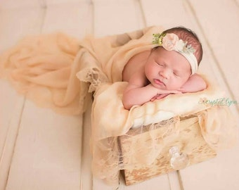 Lace Newborn Wrap, Cream Lace Wrap, Newborn Basket Stuffer, Newborn Layering Fabric, Lace Wrap, Baby Photo Prop Wrap