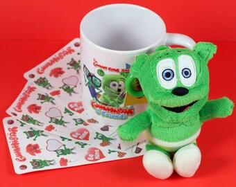 Gummibär (The Gummy Bear) Valentine's Day Mug Bundle ~ Gift Bundle ~ Heart Stickers
