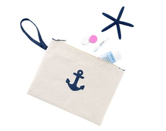 Anchor cosmetic bag | Etsy