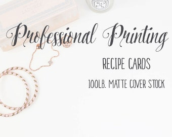Professional Printing Services for Recipe Cards