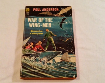 """Vintage Science Fiction Paperback, """"War of the Wing-Men"""" by Poul Anderson, 1958."""