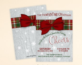 Christmas Party Invitation, Christmas Invite, Brunch, Holiday Open House, Holiday Cheer, Christmas Open House, Holiday Party, C13004