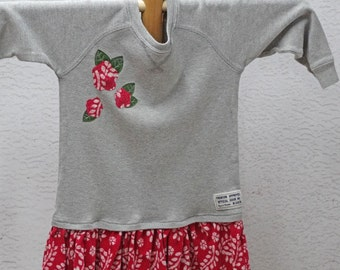 3T Girls Upcycled Clothing,Girls Tunic Dress,Eco Fashion,Children's Clothing, Toddler Top