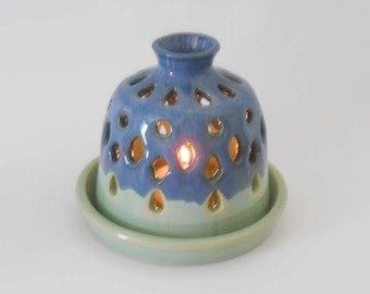 Candle luminary - candle lantern - tea light lantern - pottery luminary - ceramic luminary  O173