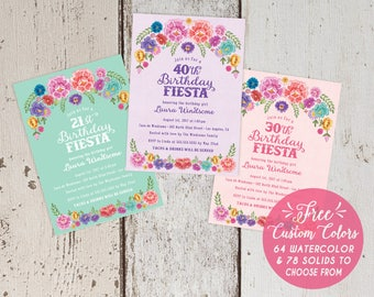 Wine Tasting Theme Birthday Party Invitations Modern - Birthday party invitation in spanish