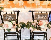 Señor & Señora Signs, Rustic Wedding Signs, Chair Signs, Spanish Weddings, Photo Prop Signs, Rustic Wedding Decor