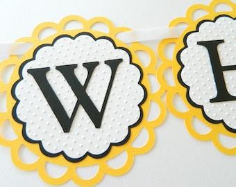 What Will It Bee Banner Bee Baby Shower Bee Gender Reveal Banner Gender Reveal Party Gender Reveal Decorations Bee Gender Reveal BEE