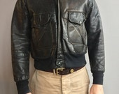 Fieldmaster Outerwear Black Leather Jacket with zipper front.