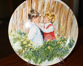 "Wedgwood Queen's Ware Plate ""Be My Friend"" Made in England 1981"