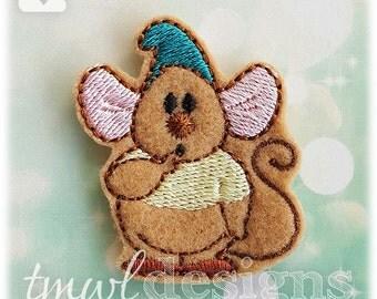 """Cinderella Mouse B Feltie Digital Design File - 1.75"""""""