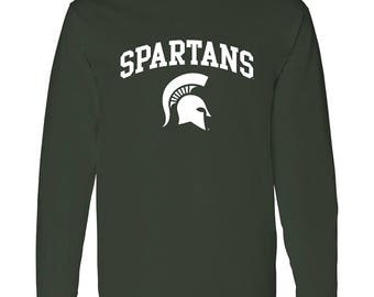 Michigan State Spartans Arch Long Sleeve T-Shirt - Forest Green