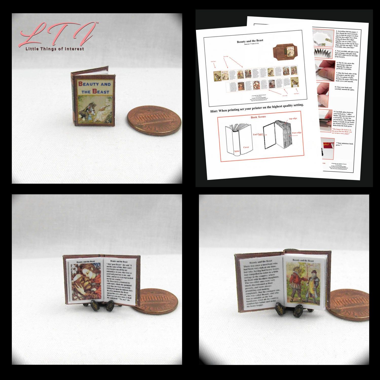 Beauty And The Beast Novel Pdf: BEAUTY And The BEAST Dollhouse Miniature Book 12th Scale