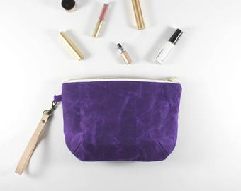Bridesmaid Gift, Gifts for Her, Toiletry Bag, Zipper Pouch, Clutch Purse, Clutch, Bridesmaid Clutch, Every Day Purse, Evening, Purple