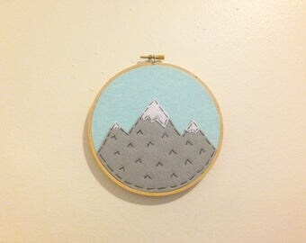 Mountain Hoop Art