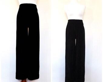 Rare Vintage 1950s Vanity Fair Pants Black High Waist Rockabilly Pants Audrey Hepburn Capri Pants Cigarette Pants Mod 1940s Womens Pants