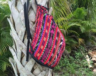 Vintage Multicolored Patterned Backpack