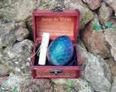 Dark Rainbow dragon egg & Dragon Story, size L Iridescent Dragon Egg Cosplay Prop, Dragons Fantasy Fandom Geek Gift Dragons Geekery