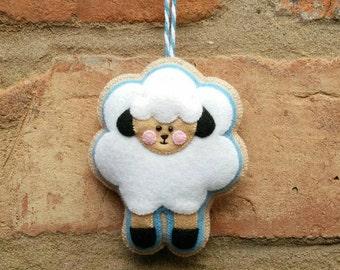 Cute felt easter sheep ornament