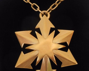 Trifari Pendant Necklace Arrows Star Snowflake Statement 1960's-1970's