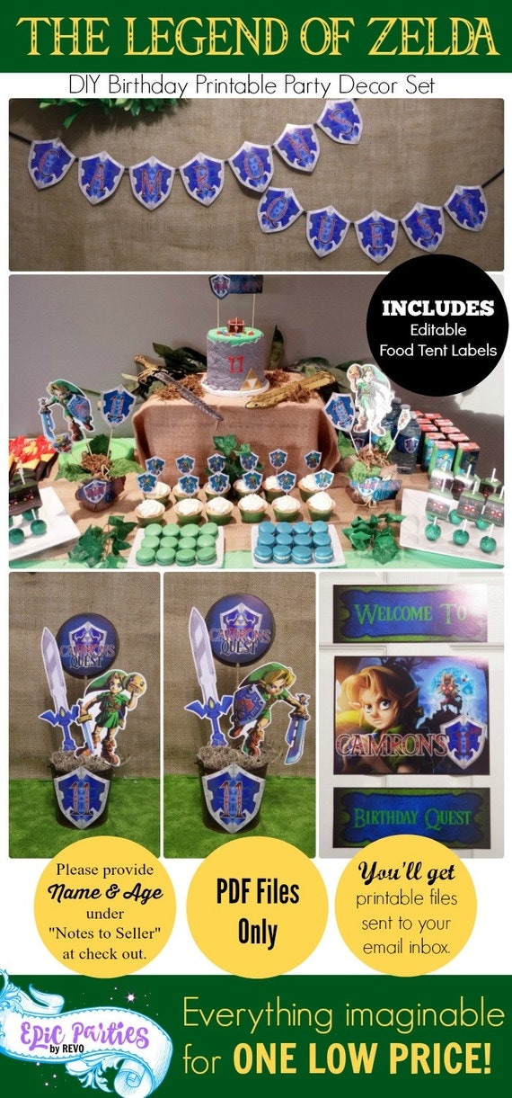 Zelda Birthday Party Majoras Mask Legend Of Zelda Zelda