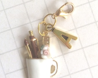 Stationery Planner Charm, Stationery planner accessories, stationery charm, stationery plannerclip, clip on planner supplies, planner charm