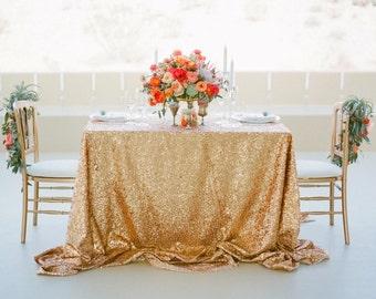 Gold Sequin Tablecloth, Wedding Tablecloth, Rectangle Tablecloth, Sparkle  Tablecloth, Glitter Table Cover