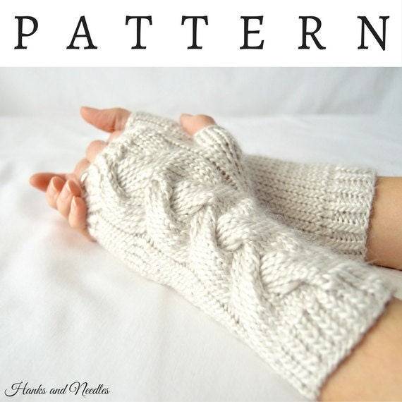 Fingerless Gloves Knitting Pattern Dk Hand Warmer Pdf
