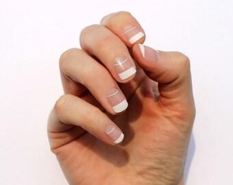 White Elise Transparent Nail Wraps - Fits Shorter Nails