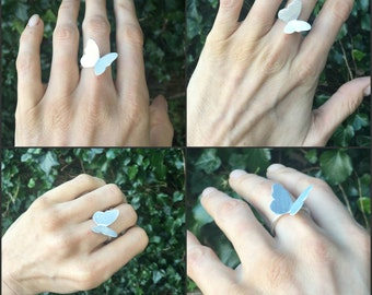 Sterling silver ring, silver butterfly ring, butterfly ring, sterling silver jewellery, gold butterfly, butterfly jewellery
