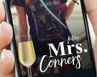 Future Mrs. Bachelorette Bridal Shower Snapchat Filter   Personalized Party Geofilter Snapchat