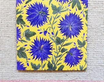 Blue Flower Pattern Greetings Card