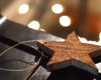 Christmas Star Ornament- Star Ornament made from reclaimed barn wood with a finish