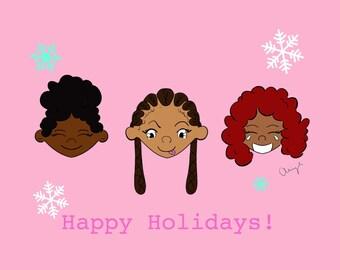 Friends Christmas Card | Black Girls