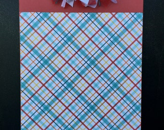 Red and Blue Plaid Clipboard