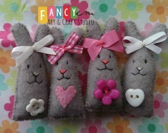 Easter Felt Funny Bunny. Easter Egg Fillers. Easter tree ornament.Easter brooch. Easter decoration.