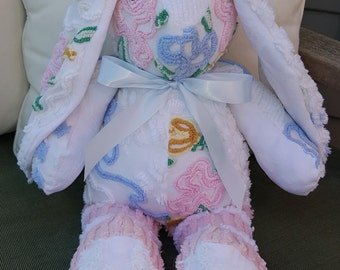 Vintage Chenille Bunny - Floral