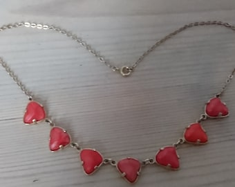 Vintage orange glass necklace