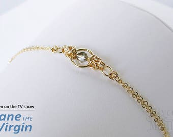 As Seen on Jane the Virgin - Gold and Crystal Bracelet - Gold Bracelet - Gift for Her