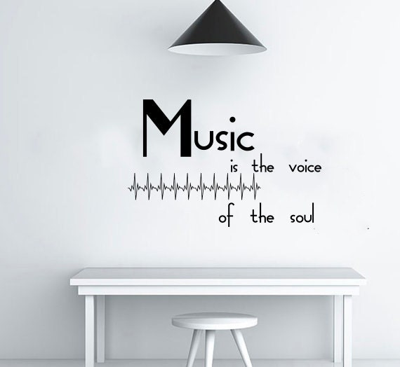 Wall Decals Quotes Music Is The Voice Of The Soul Quote