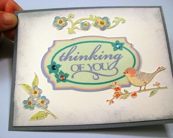 CHRISTIAN SYMPATHY  CARD - Thinking Of You - Prayers For Peace And Comfort During This Difficult Time - Unique Hand Crafted Sympathy Card