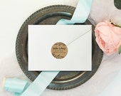 Rustic Black & Kraft Handwritten Circle Wedding Return Address Stickers / Labels | Favor Sticker | Envelope | Thank You | Gift