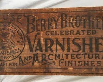Berry Brothers Varnish Co. Wood Crate