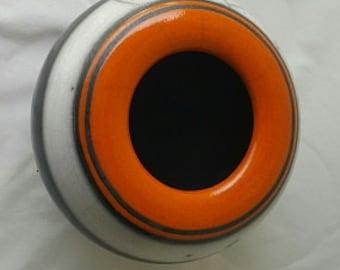 Raku Pot - Orange