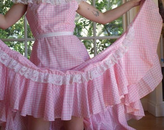 Pink Gingham Gown