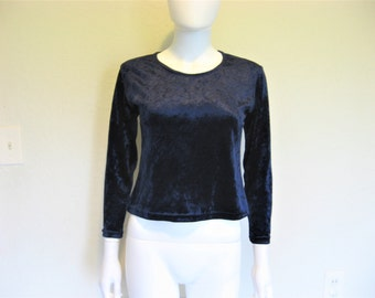Dark Blue Crush Velvet Top