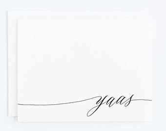 Yaas - Letterpress Calligraphy Greeting Card