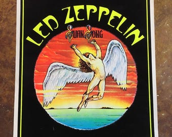 1994 Led Zeppelin Swan Song Velvet, Black Light Poster #1655 / Myth Gem / Scorpio Posters